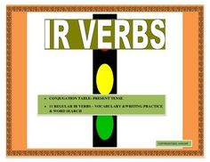 This interactive IR Verbs Unit is an incredible tool to teach your students how to conjugate IRverbs effectively. It begins by providing a vocabulary list of 11 high used IR verbs. Included in the lists are verbs such as escribir and vivir. The Conjugation table is an amazing tool to teach students basic rules of conjugation.