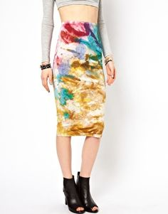 Enlarge ASOS Pencil Skirt in Tie Dye