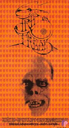 TRIP OR FREAK, Winterland, San Francisco, 1967  collaboration by three of the most talented poster artists of the day - Rick Griffin, Alton Kelley and Stanley Mouse