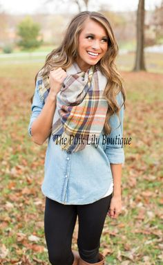 This beautiful and soft plaid blanket scarf is the perfect way to stay warm and stylish this winter!