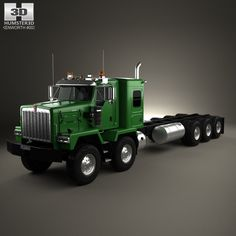 Kenworth C500 Chassis Truck 5axle 2001 3d model from humster3d.com. Price: $75