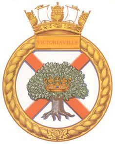 HMCS VICTORIAVILLE Badge - The Canadian Navy - ReadyAyeReady.com