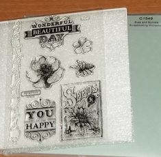 CTMH C1549 BUZZ & BUMBLE WORKSHOP STAMPS ~ WONDERFUL BEAUTIFUL DAY, HAPPY #CloseToMyHeart Close To My Heart, Beautiful Day, Scrapbook Pages, Are You Happy, Stamps, Workshop, Ebay, Seals, Atelier