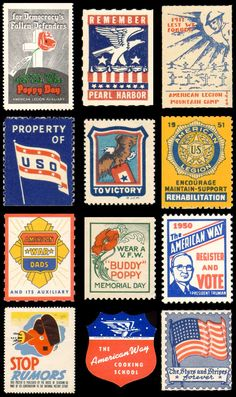 VINTAGE AMERICANA STAMPS 2