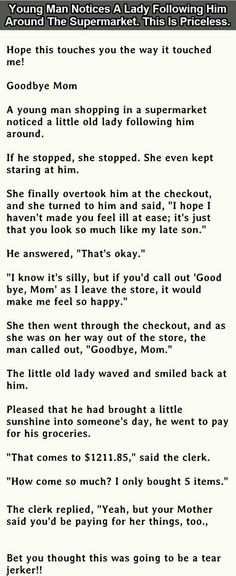 Young Man Notices A Lady Following Him Around The Supermarket This Is Priceless funny quotes quote jokes story lol funny quote funny quotes funny sayings humor omg stories