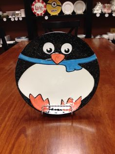 Fat Penguin Plate Made at Paint a Piece Commack