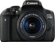 Canon EOS 750D Kit Spiegelreflex Kamera, Canon EF-S 18-55mm f/3.5-5.6 IS STM Zoom, 24,2 Megapixel im Universal Online Shop
