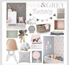 Baby girl nursery ideas - pink - grey and white theme - Kesä ...