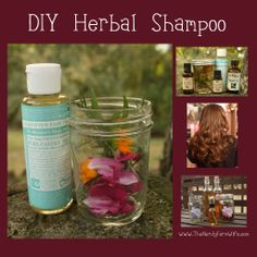 Homemade Herbal Shampoo-Make Your Own Shampoo DIY Ideas