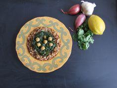 spinach and bulgar mediterranean east
