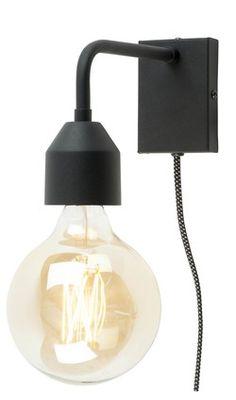 Wandlamp ijzer Madrid 18x7xh.14cm, zwart - Afmeting: 7 x 7 x 14 - Kleur: Zwart - Materiaal: Ijzer