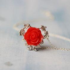 5.6$ cameo flower necklace Victorian vampire jewelry