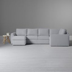 Buy House by John Lewis Finlay II Corner Chaise-End Sofa, Fraser French Grey Online at johnlewis.com