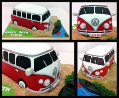 www.facebook.com/cakecoachonline - sharing ...vw campervan novelty cake copy