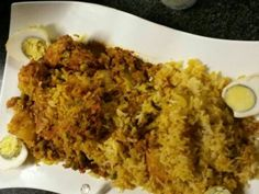 Chicken Biryani recipe by 🍨🍰ayshdok🍕🍟 posted on 21 Jan 2017 . Recipe has a rating of by 1 members and the recipe belongs in the Rice Dishes recipes category Indian Food Recipes, Real Food Recipes, Chicken Recipes, Ethnic Recipes, Egg Rice Recipe, Good Food, Yummy Food, Biryani Recipe, Chicken Eggs