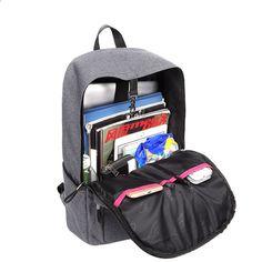 f16ff51c503d7 AUGUR Kobiety Mężczyźni Plecaki Oxford Moda anty-złodziej USB Ładowanie torba  podróżna Nastolatek Student School