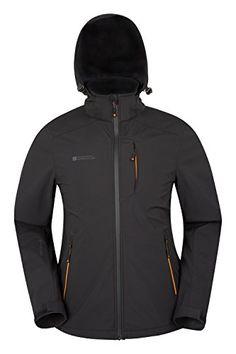 6ee91f5e645 Mountain Warehouse Helix Mens Softshell Jacket - Water Resistant Rain Coat