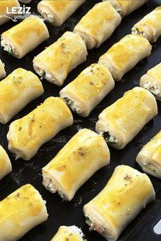 Mini Mini Katmer Börek - Leziz Yemeklerim Hot Dog Buns, Hot Dogs, Bread, Cheese, Food, Breads, Bakeries, Meals
