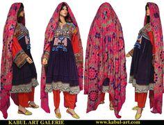 3 piece antik Orient Nomaden kuchi frauen Tracht von KabulGallery
