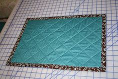 place mat with no hand sewing