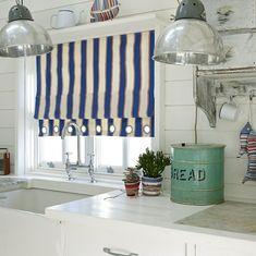 Морской стиль в вашей квартире! #blinds #window #romanblinds #interior #спальня…