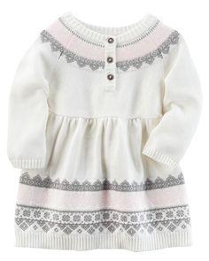 Baby Girl Sweater Knit Dress | Carters.com