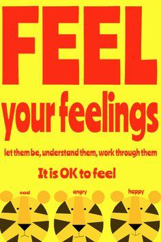 feel your feelings Art Print by Giraffes and Robots by GIRAFFESandROBOTS on Etsy