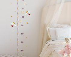Cute Kinderzimmerdekoration Wandtattoo Messlatte Feenzauber ein Designerst ck von TinyFoxes bei DaWanda
