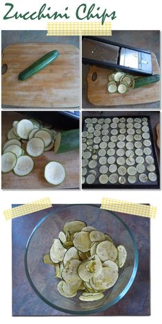 Zucchini Chips.. A much healthier alternative to traditional potato chips!