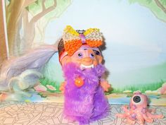 "3"" ROOTIE VAMPIRESS Custom Troll Doll rooted vintage VAMPIRE Halloween Octopus #Dolls"