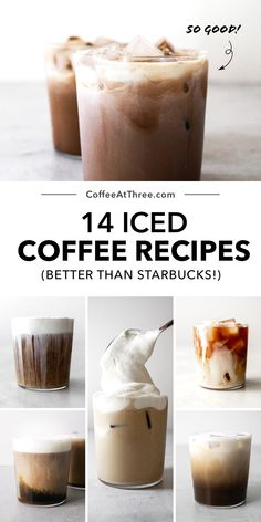 Iced Coffee At Home, Iced Coffee Drinks, Espresso Drinks, Iced Coffee Keurig, Easy Coffee, Coffee Ideas, Coffee Coffee, Coffee Drink Recipes, Starbucks Recipes