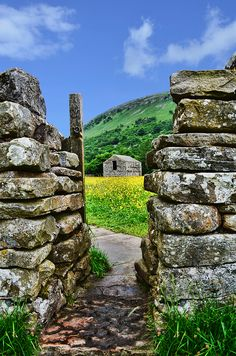 Gateway to the Flower Meadows in Muker, Yorkshire Dales, UK by Alison Christine.