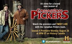 Be sure to watch the season premier and tweet live with the Canadian Pickers team!