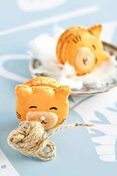 @maria Kitty Cat Macarons by raspberri cupcakes