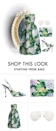 """""""greeeen"""" by georgine-d ❤ liked on Polyvore featuring Dolce&Gabbana and Linda Farrow"""