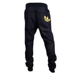 Mens Adidas Originals Cuffed Denim Blue Jeans Tracksuit Bottoms Pants Joggers L: Amazon.co.uk: Clothing