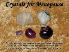 Additional Crystal Recommendations: Lapis Lazuli, Lepidolite, Citrine, or Rose Quartz. Menopause is associated with the Sacral chakra. Citrine or Fire Agate can help to cool hot flashes. Crystal Uses, Crystal Healing Stones, Crystal Magic, Crystal Grid, Citrine Crystal, Crystal Shop, Crystal Palace, Crystal Cluster, Crystals And Gemstones