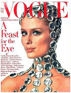 Irving Penn Model Lauren Hutton Vogue December 1968
