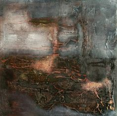 Jeane Myers | When The Moon Fell, 2009 | oil and wax on panel /sm