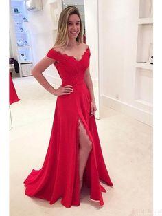 prom dresses 2018,  prom dresses 2017,  prom dresses long,  prom dresses v-neck with split,  prom dresses long cheap simple,  prom dresses long modest,   #SIMIBridal #homecomingdresses #promdresses