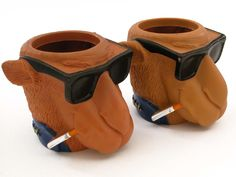 """Joe Cool Camel Beverage/Beer Can Holders (2) in Garageless Sale in Findlay , OH for $7.00. Set of 2 """"Smooth Character"""" koozies from 1991. Never used. 7 for both."""