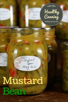 Delicious on the side of a plate of summer salads, or a roast dinner in the winter. A few spoonfuls of this pickle also enliven a potato or pasta salad. Mustard Pickles, Canning Pickles, Water Bath Canning, Pickled Eggs, Roast Dinner, Pressure Canning, Food N, Bean Recipes