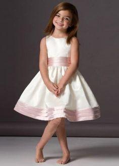 see details here: A-line Knee-length Sleeveless Satin Flower Girl Dresses