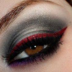 Make up .....  red, graphite gray, amazing!