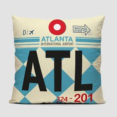 b1a67de2382 ATL - Atlanta - airport throw pillow Jackson Airport