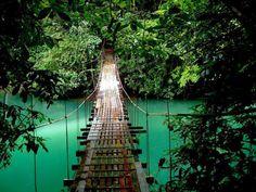 Loopbrug in Costa Rica in Midden Amerika   Lees verder op www.wearetravellers.nl