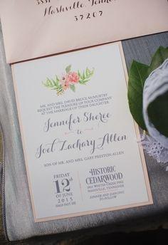 Simply stunning with watercolor flowers for the ultimate I'm effortlessly elegant #cedarwoodwesdings Effortlessly+Chic+Cedarwood+Wedding+::+Jennifer+Joel+|+Cedarwood+Weddings