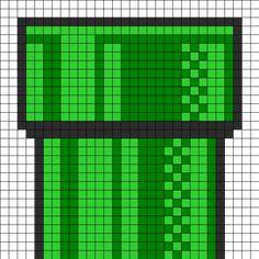 Mario Tube Perler Bead Pattern   Bead Sprites   Misc Fuse Bead Patterns