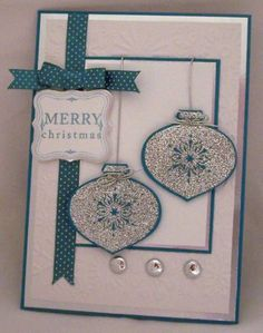 CC300 Sparkly Baubles by saffivort - Cards and Paper Crafts at Splitcoaststampers