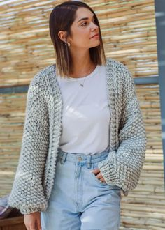 knit cardigan pattern-jacket knitting pattern-1 Knit Cardigan Pattern, Oversized Cardigan, Jacket Pattern, A 17, Knitting Designs, Outfit Of The Day, Knitwear, Knitting Patterns, Outfits